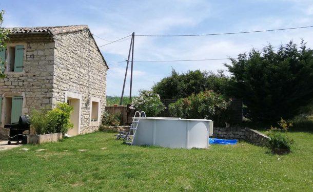 Création de piscine à Loriol sur Drome : avant