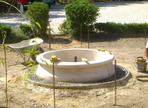 Fontaine et calade