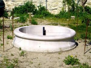 Installation d'une fontaine à Livron -sur-Drome