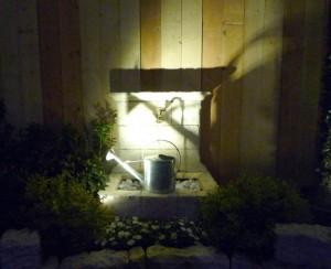 Fontaine éclairée