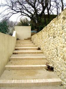 Escalier en balthazar et pavés