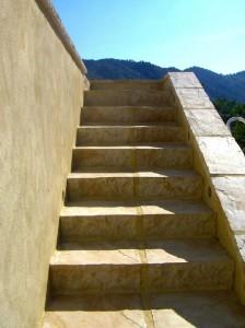 Escalier en dalle manoir