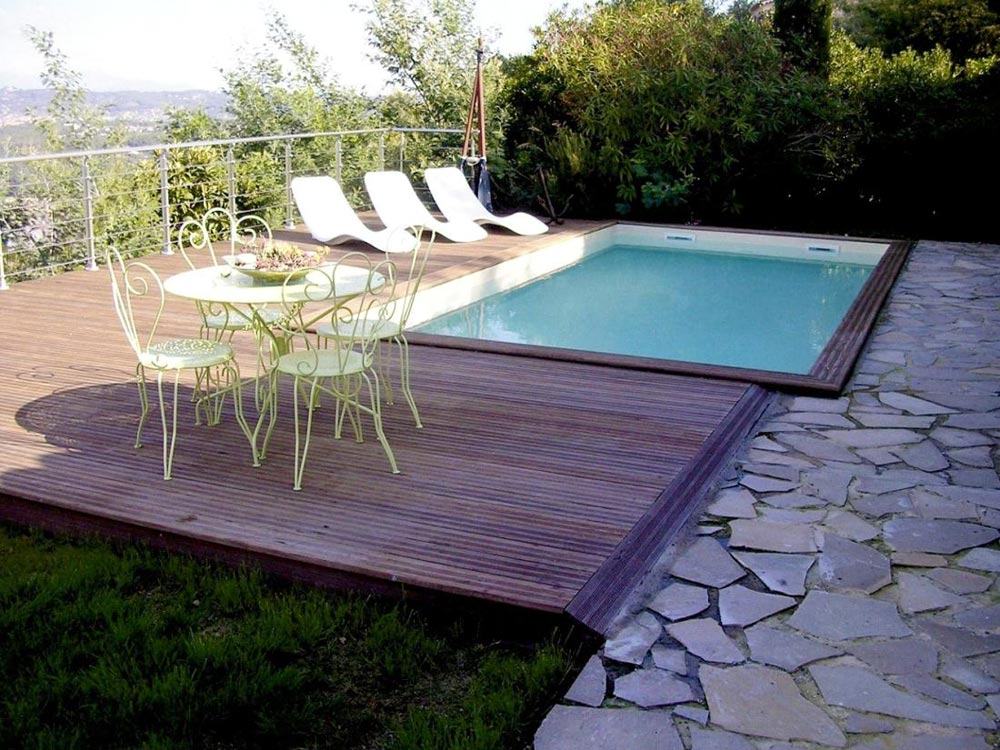plancher bois pour piscine hors sol excellent with