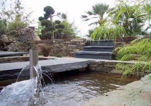 Bassin en pierre zen